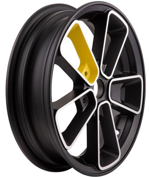 """Velg voor/achter 12"""" voor Vespa GTS/GTS Super/GTV/GT 60/GT/GT L 125-300ccm, zwart/geel"""