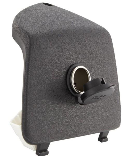 Bagagevakkap links met 12V sigarettenaansteker voor Vespa GTS/GTS Super/GTV/GT, zwart