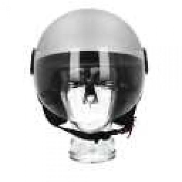 Piaggio open helm AWA Basejet grijs mat
