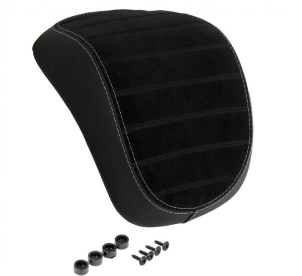 Original top box rugleuning Vespa Primavera / Sprint zwart met witte stiksels
