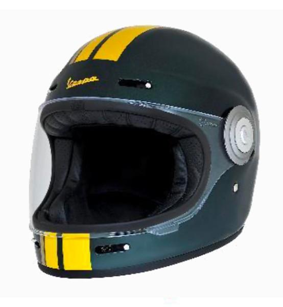 Vespa volledige helm VJ Racing 60s groen / geel - Sixties