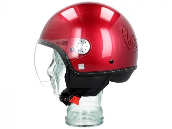 Vespa Helm Demi Jet Visor 3.0 - vignola rood
