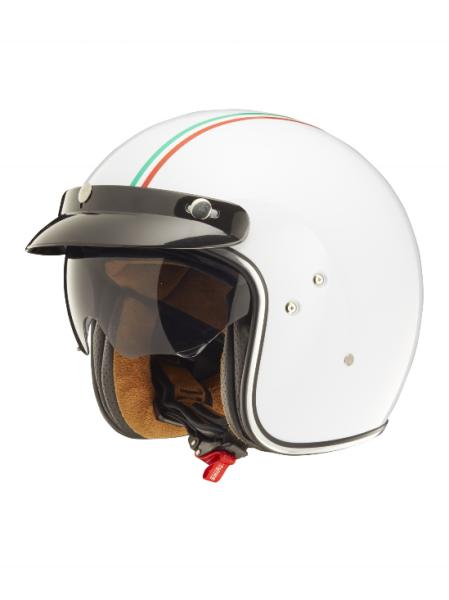 Shiro Jethelm, SH235 GT, Italy Flag, wit