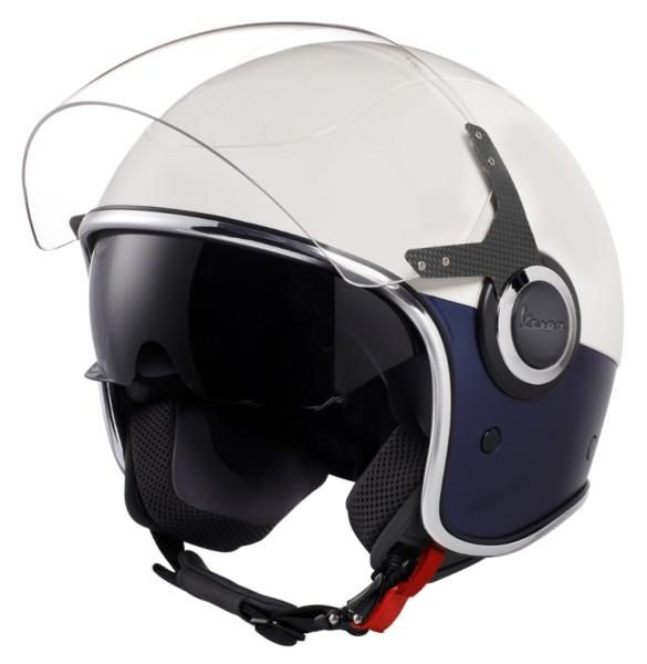 Vespa VJ Helm wit blauw