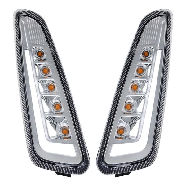 Knipperlichtset voorzijde links / rechts LED helder voor Vespa Primavera / Sprint 125-150ccm SIP Style