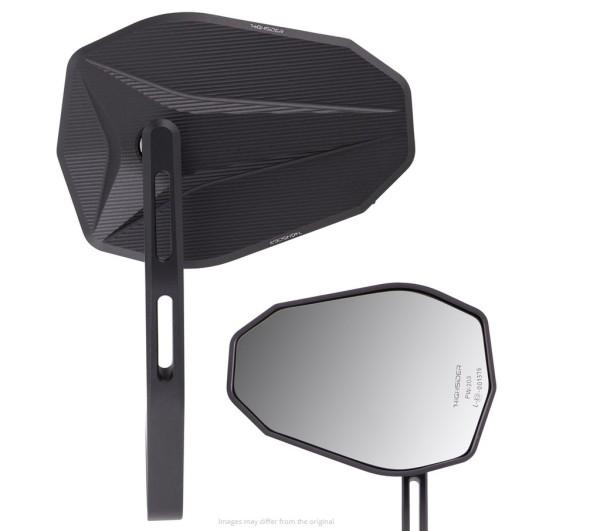 Spiegel Stuuruiteinde Highsider Victory-X, zwart, voor Vespa, links of rechts