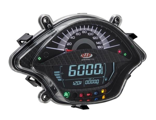 Toerenteller/Tacho voor Vespa GTS/GTS Super 300ccm FL ('14-), carbon-look