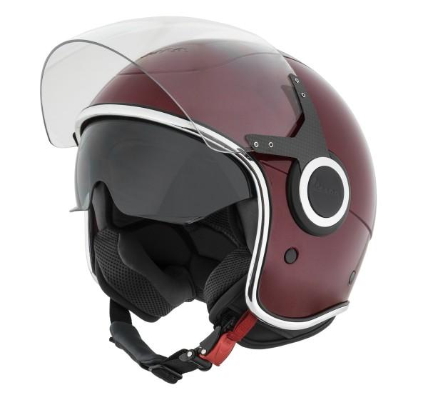 Vespa Helm Demi Jet VJ - rood vignola