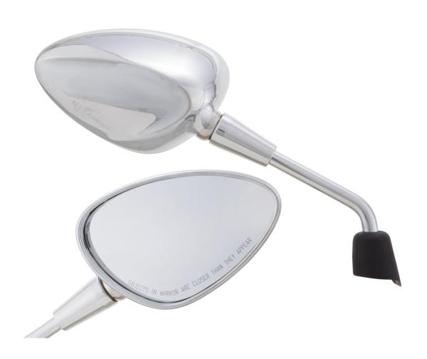 Spiegel Shorty zilver rechts en links voor Vespa Sprint 50-150ccm 2T / 4T