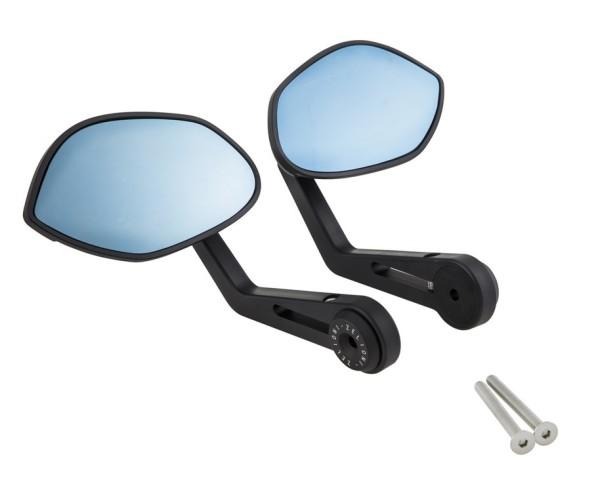 Spiegel Stuuruiteinde ZELIONI voor Vespa, matzwart, rechts en links