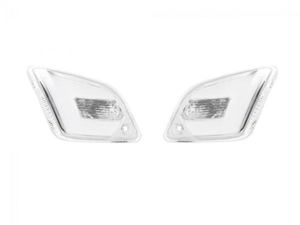 LED richtingaanwijzerset voor Vespa GT, GTL, GTV, GTS 125-300 achteraan, getint
