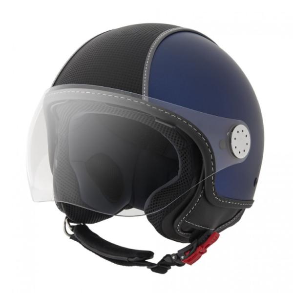 Piaggio Demi Jet helm, Carbonskin, blauw