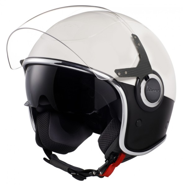 Vespa VJ Helm wit Zwart