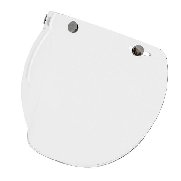 Bubble-vizier (transparant) met drukknopen voor Vespa Jet-helmen