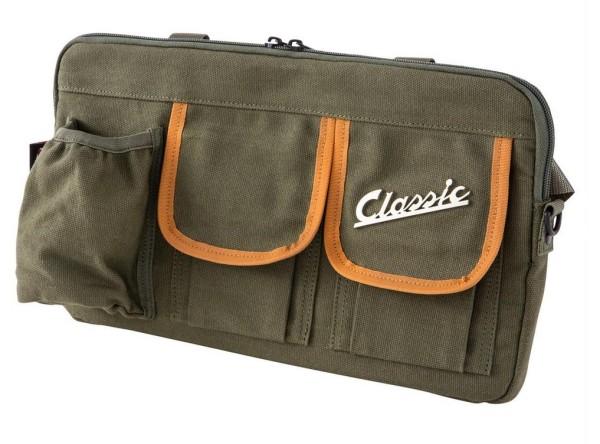 """Tas """"Classic"""" voor bagageruimte / handschoenenkastje Vespa - olijfgroen, canvas"""
