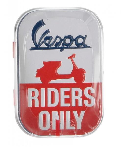 Vespa pillendoosje Vespa riders only, blik