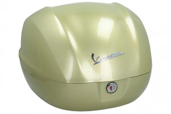 Originele topkoffer voor Vespa Primavera / GTS 75 jaar geel