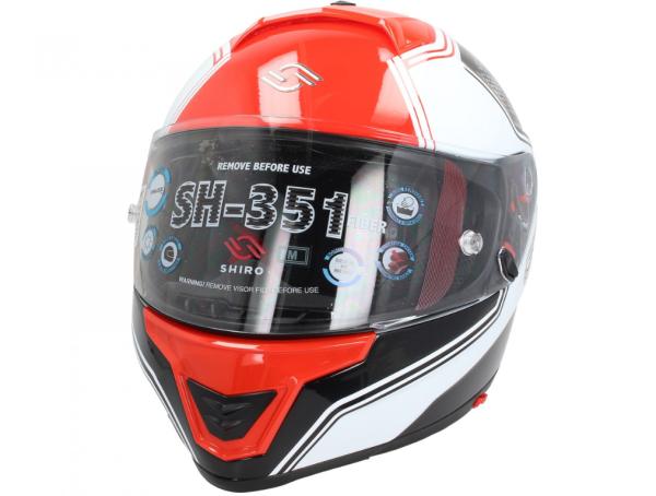 Shiro Volgelaatshelm, SH351, Fiber, F4, rood