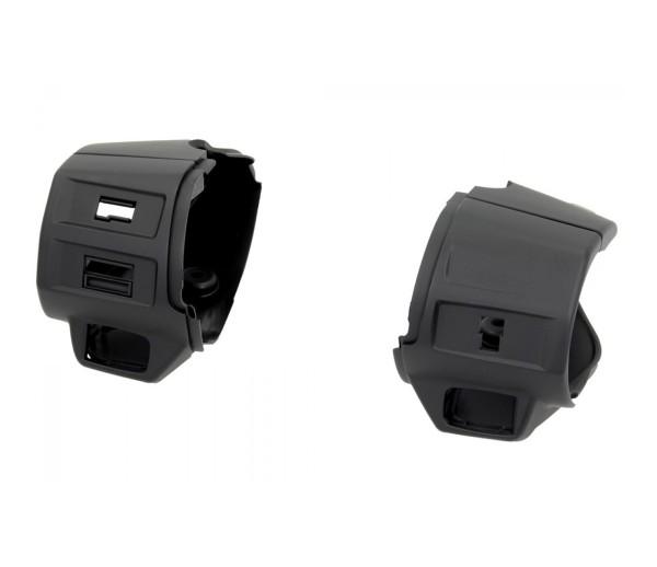 Schaltergehäuse, schwarz matt für Vespa Primavera / Sprint