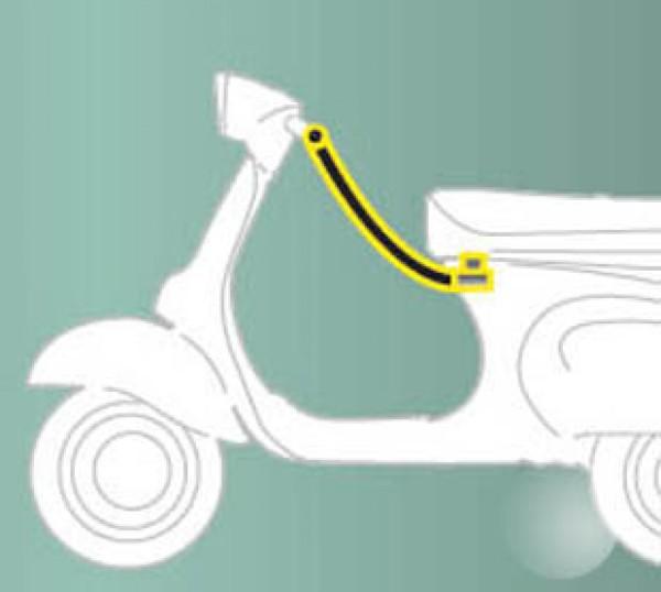 Diefstalbeveiliging (zadel - stuur) standaard voor ZIP Original Piaggio