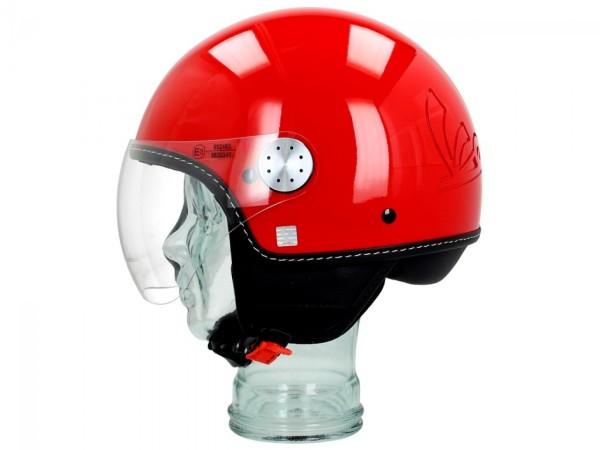 Vespa Helm Demi Jet Visor 3.0 - dragon rood