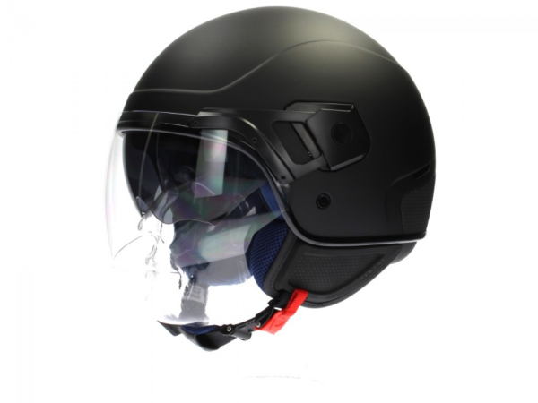 Piaggio PJ Jet helm zwart, mat