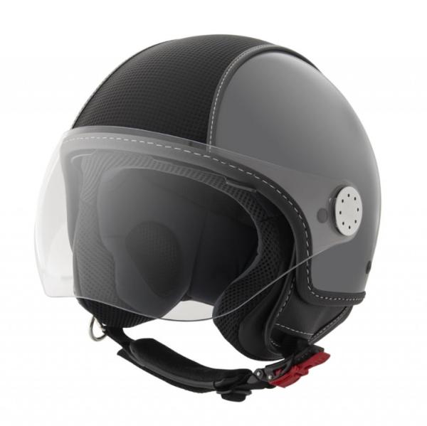 Piaggio Demi Jet helm, Carbonskin, grijs