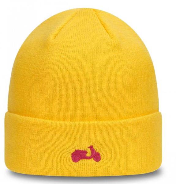 Vespa gebreide hoed NEW ERA geel