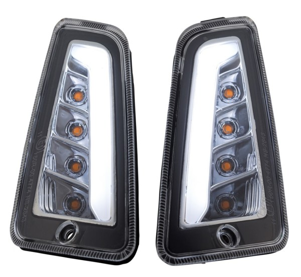 Richtingaanwijzer kit voor links/rechts voor Vespa GTS/GTS Super/GTV 125-300ccm ('14-), helder