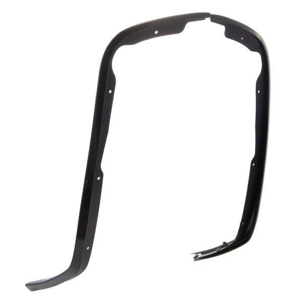 Enkel slot buis beenschild glanzend zwart voor Vespa Primavera / Sprint 50-150ccm