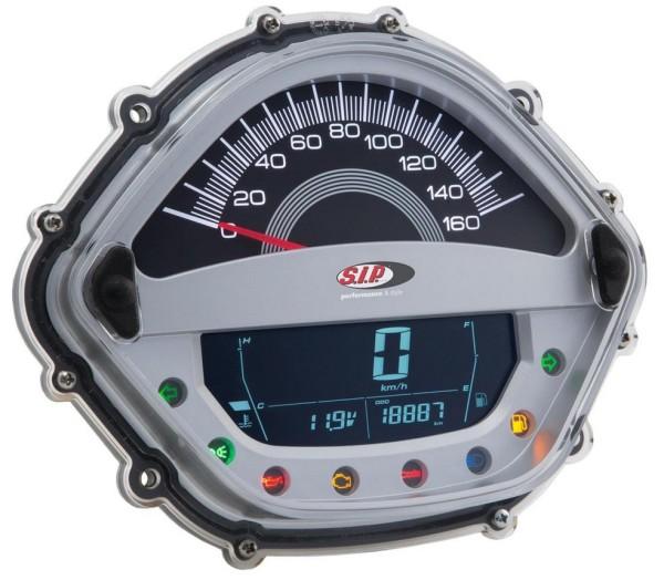 Toerenteller/Tacho voor Vespa GTS/GTS Super/GTS SuperSport, i.e., 125-300ccm (-'14), zilver