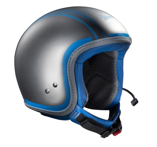 Vespa Helm Jet Elettrica Tech Chroom/ blauw (Bluetooth)