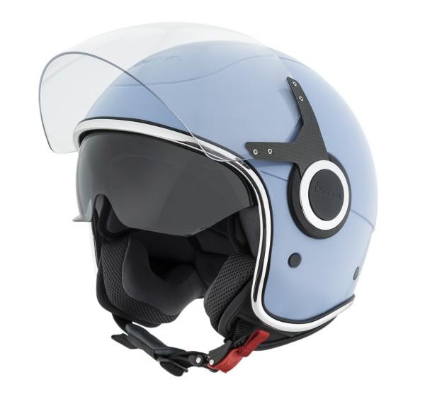 Vespa Helm Demi Jet VJ helblauw - 70 jaar editie