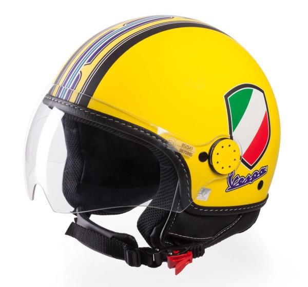 Vespa Helm Demi Jet V-Stripes, geel
