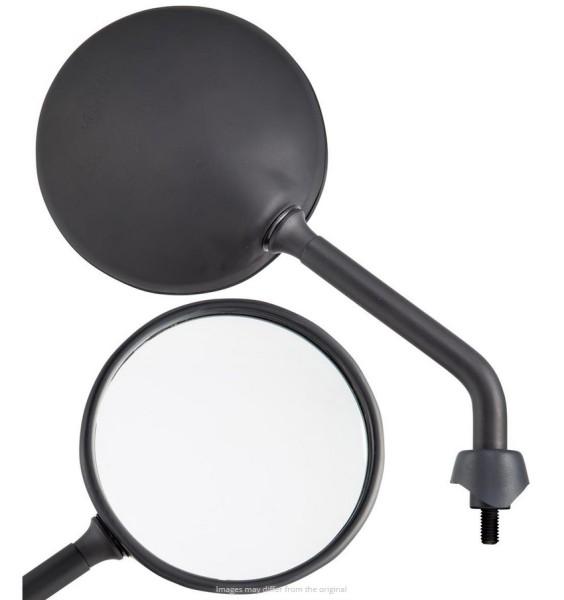 Spiegel Shorty voor Vespa, zwart mat, rechts en links