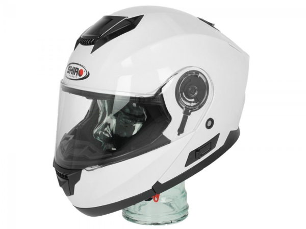 Shiro Flip Up Helm , SH507, wit