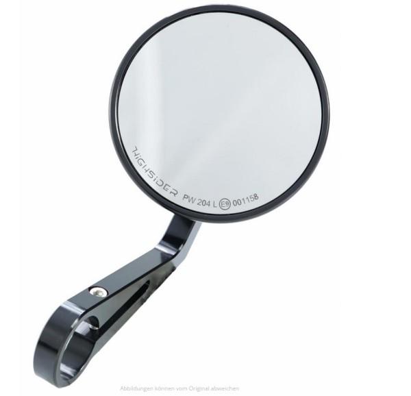 Spiegel Stuuruiteinde Highsider Montana, zwart, voor Vespa, links of rechts
