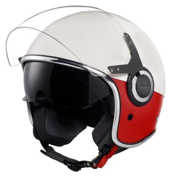 Vespa VJ Helm wit rood