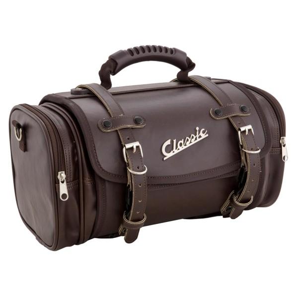 """Kleine """"klassieke"""" tas voor Vespa - donkerbruin, synthetisch leer"""