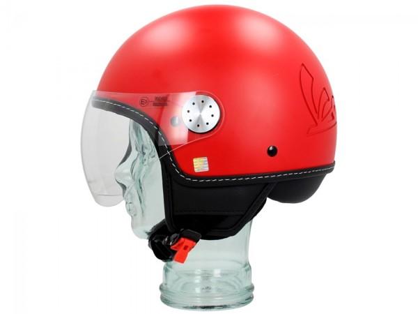 Vespa Helm Demi Jet Visor 3.0 - mat rood