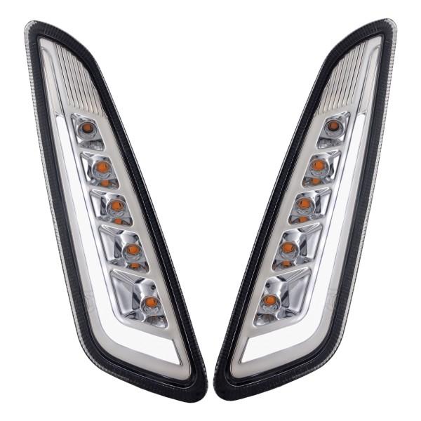 Knipperlichtset voorzijde links / rechts LED getint voor Vespa Primavera / Sprint 125-150ccm SIP Style