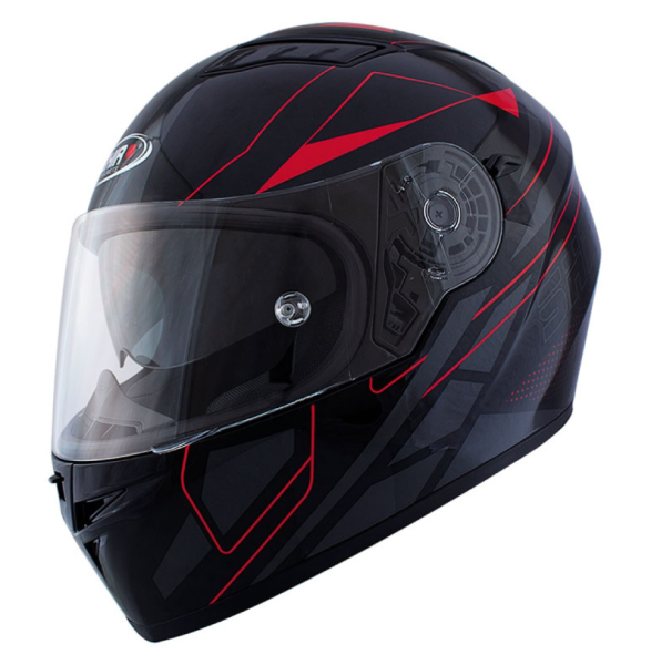 Shiro Volgelaatshelm, SH600, Elite, zwart mat/rood