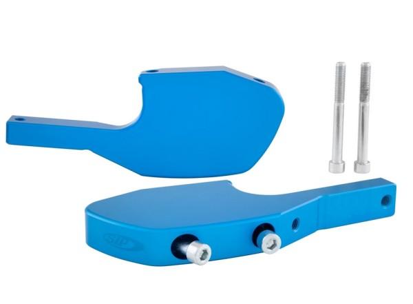 Voetsteunadapter passagier voor Vespa GTS/GTS Super/GTV/GT 60/GT/GT L 125-300ccm, blauw mat