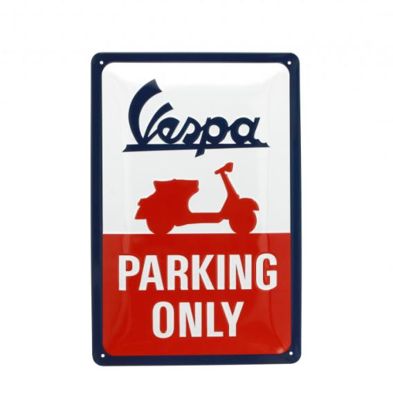 Vespa metalen plaat Vespa parking only