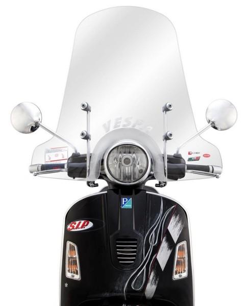 Windscherm hoog voor Vespa GTS/GTS Super/GT/GT L 125-300ccm, helder