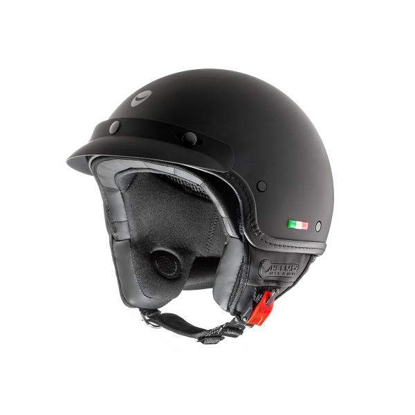 Helmo Milano open helm, FuoriPorta, zwart, mat