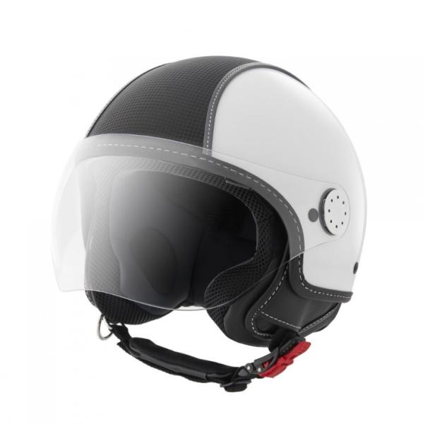 Piaggio Demi Jet helm, Carbonskin, wit