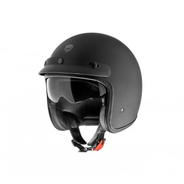 Helmo Milano open helm, Audace Monza, mat zwart