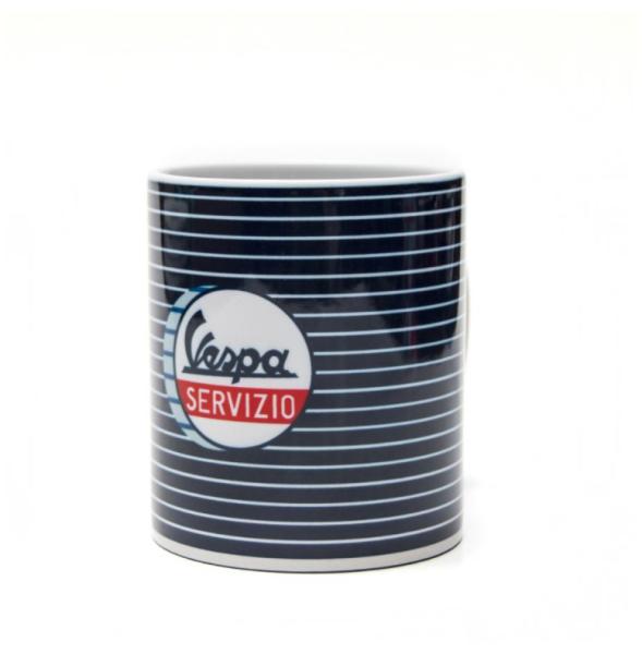Vespa beker Servizio blauw wit