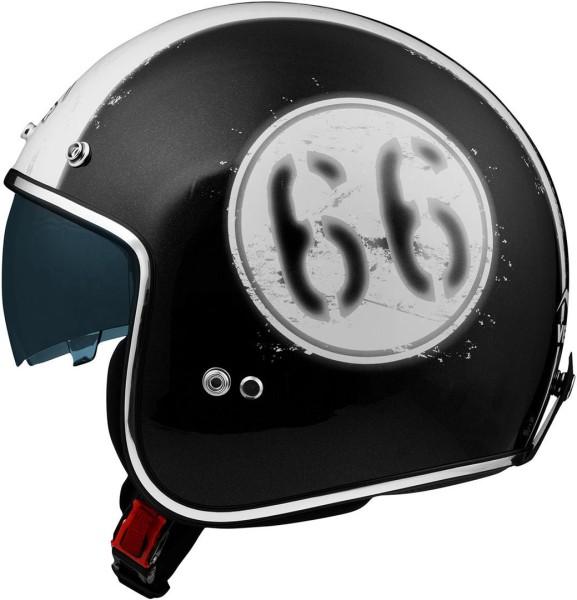 Vemar Chopper 66 Jet helm - Zwart/wit